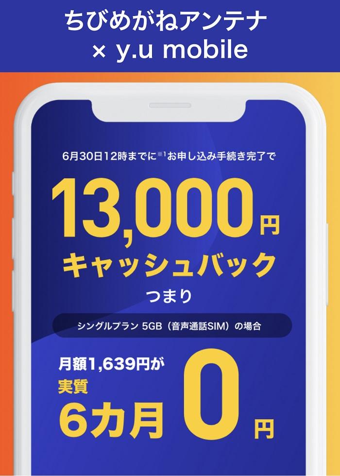 2021年6月y.u mobileキャンペーン