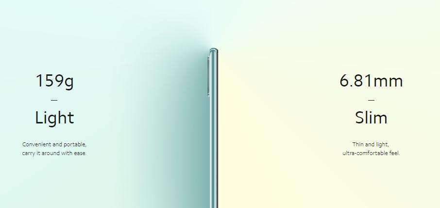 Mi 11 Lite 5Gは薄くて軽い