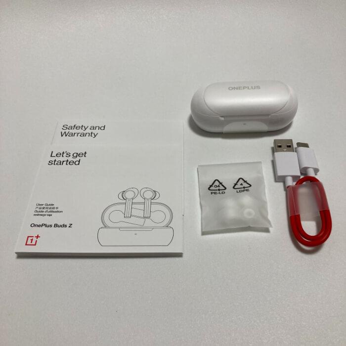 OnePlus Buds Zの付属品