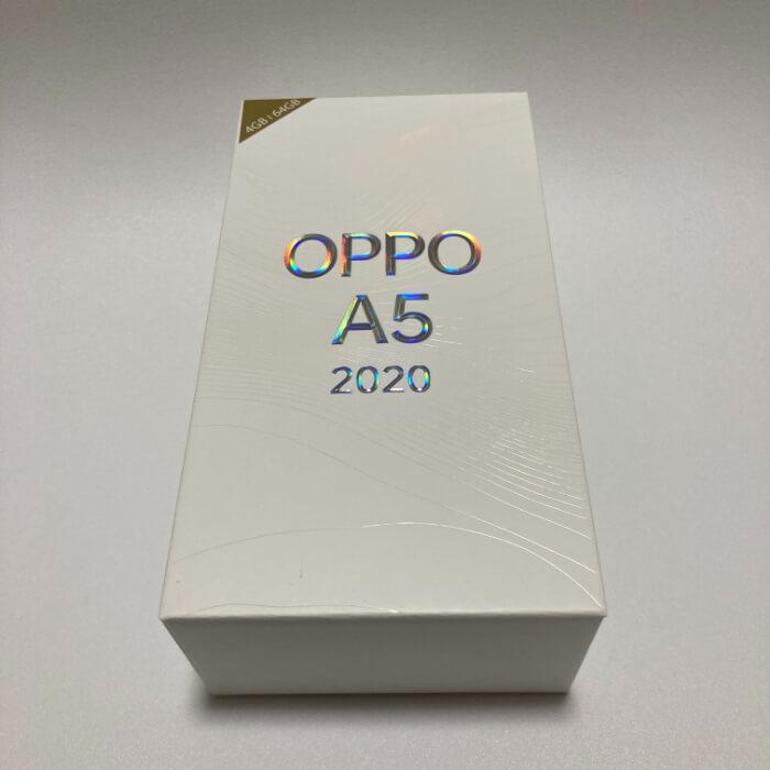 OPPO A5 2020の外箱