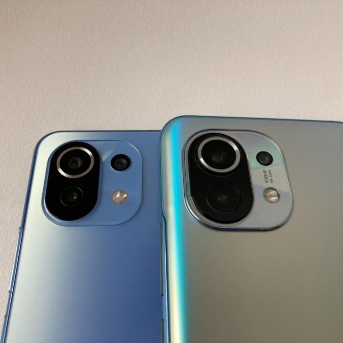 Mi 11とMi 11 Liteのカメラユニット