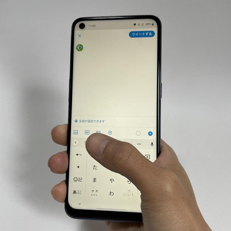 OnePlus Nord N10 5Gのディスプレイ