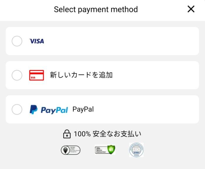 Aliexpressの支払い方法