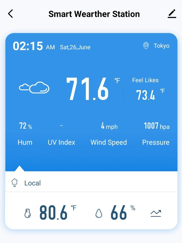 BW-BS02で天気情報の表示