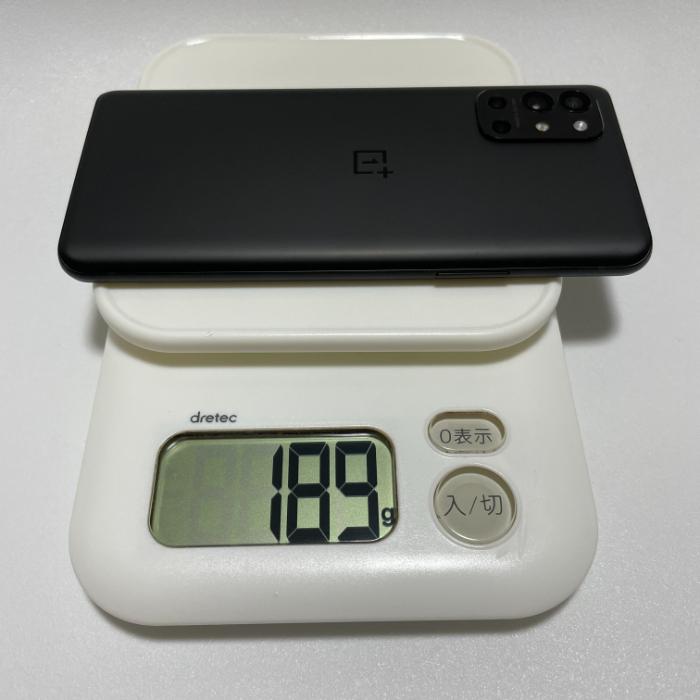 OnePlus 9Rの重さ