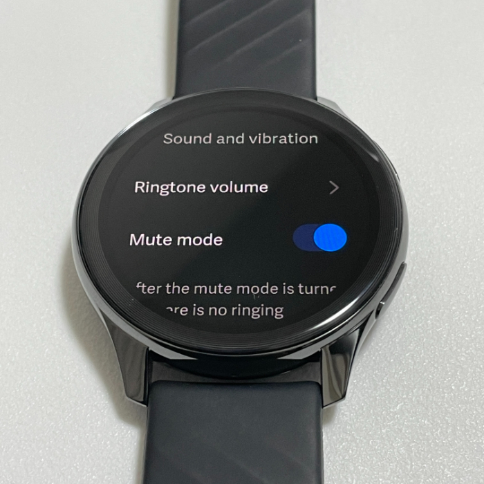 OnePlus Watchのミュートモード