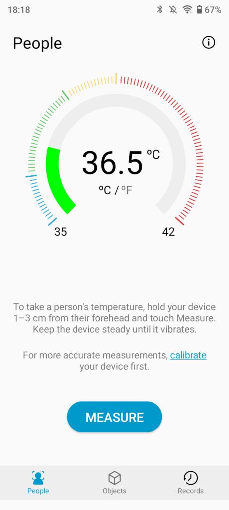UMIDIGI A11の温度計