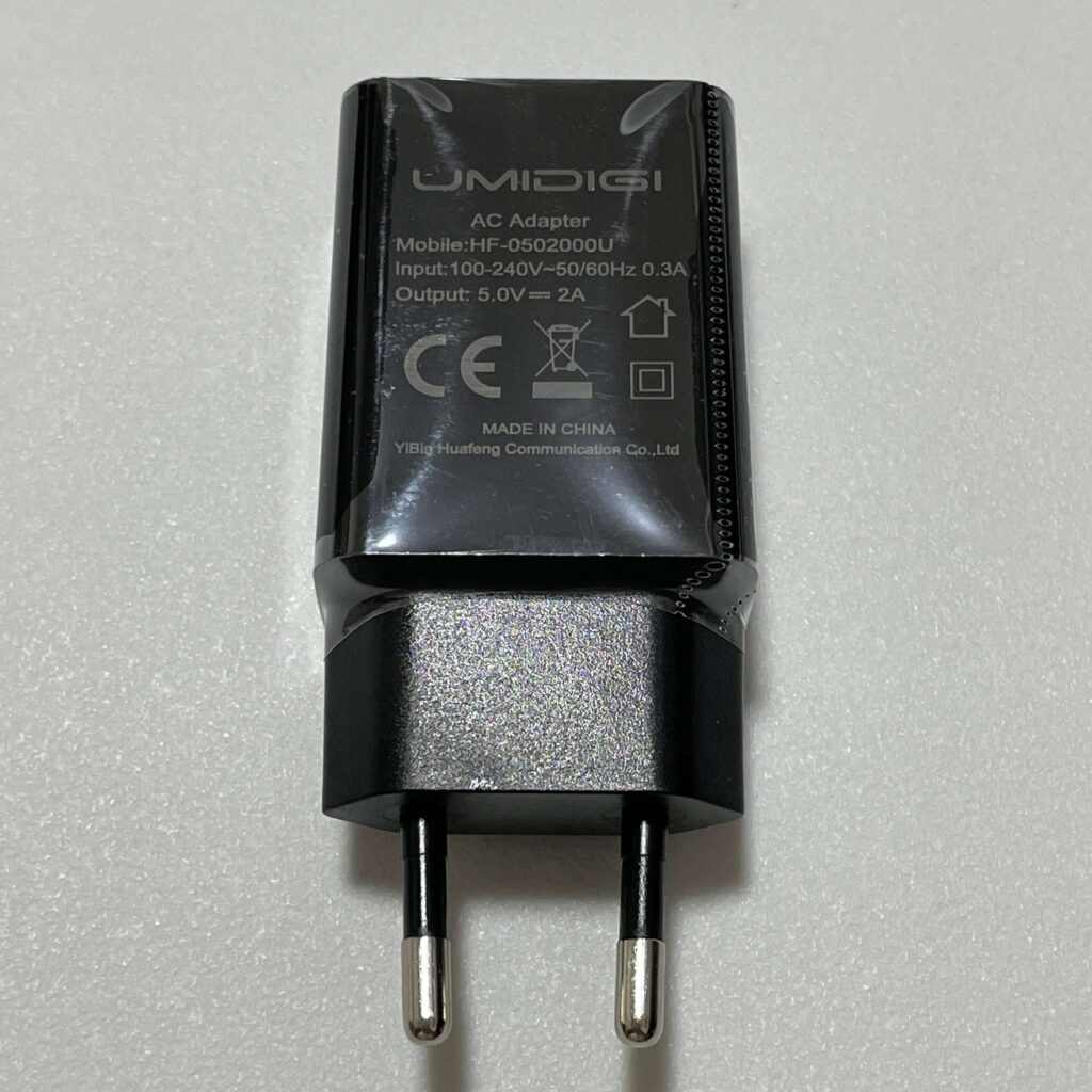 UMIDIGI A11の充電器