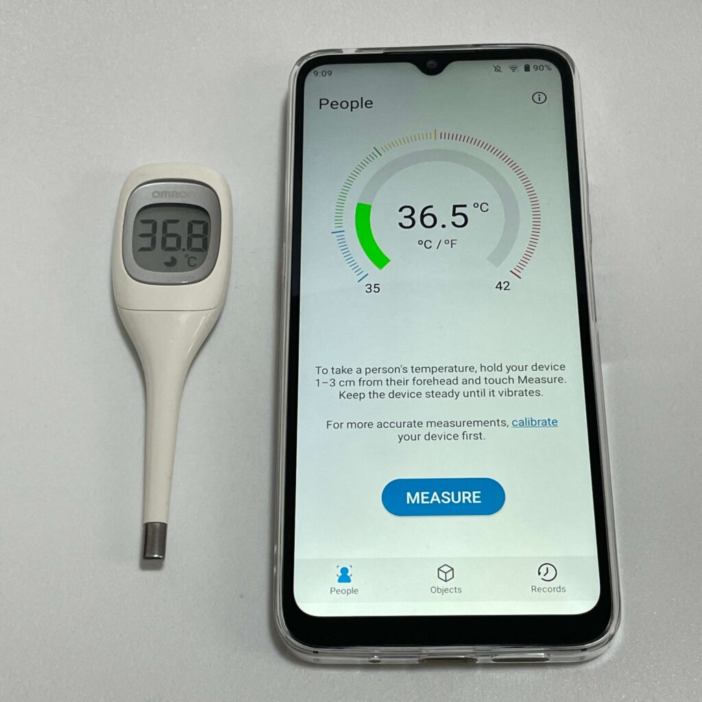 UMIDIGI A11の体温計機能
