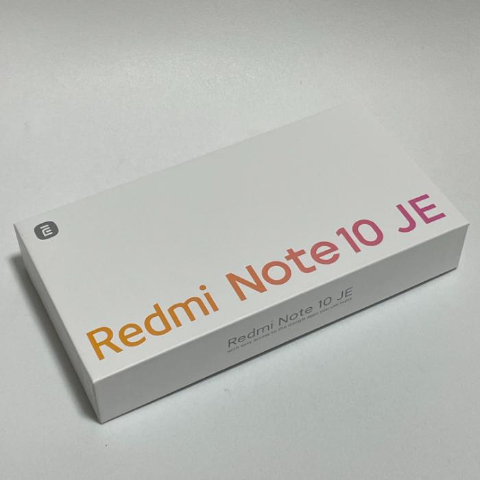 Redmi Note 10 JEの外箱