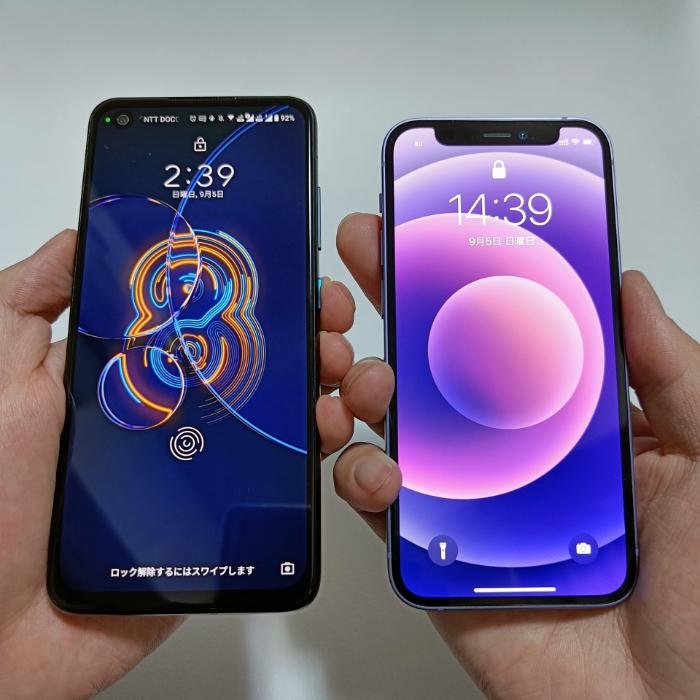 Zenfone8とiPhone 12 mini
